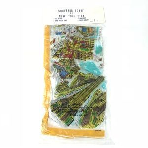 VTG NOS New York City silk blend souvenir scarf